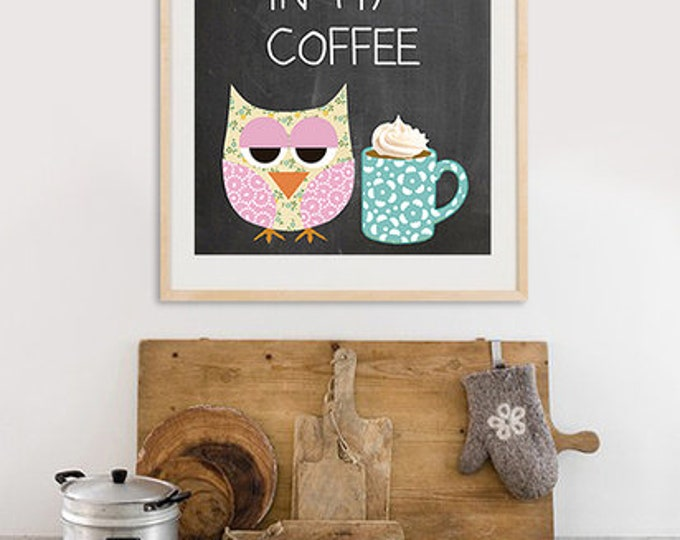 A3 Format-Coffee Owl