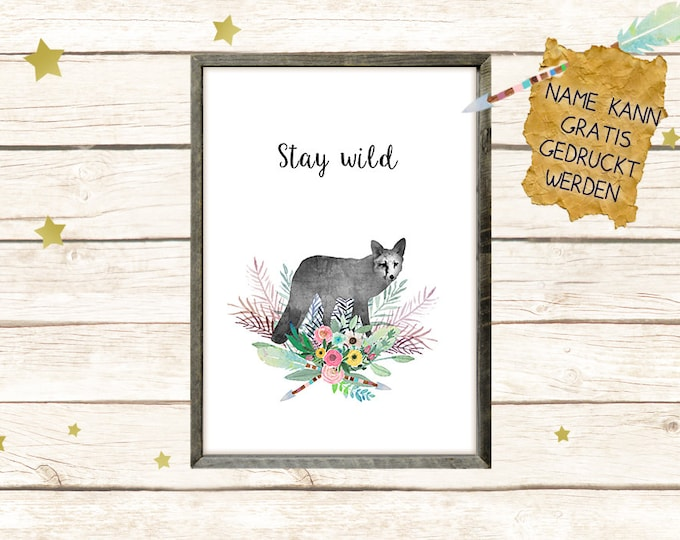 Fox poster Stay Wild