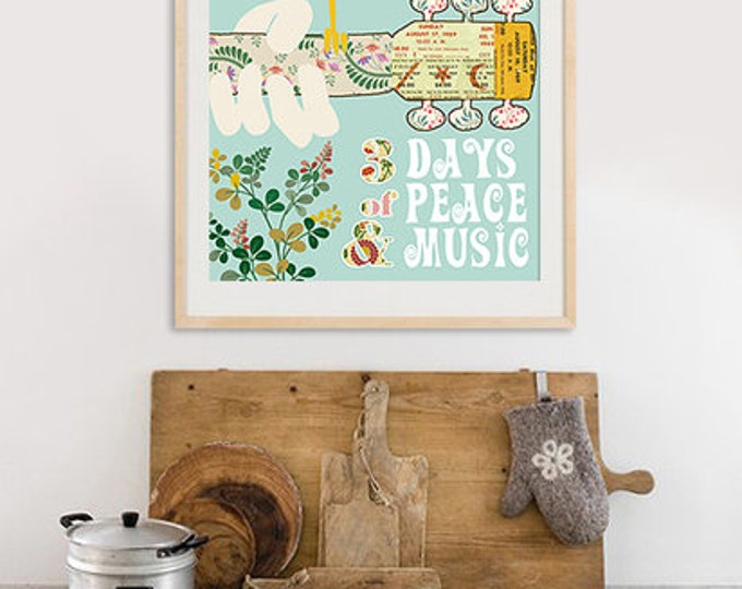 New A3 Woodstock poster-Different colors