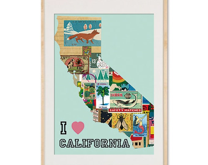 I love California Collage