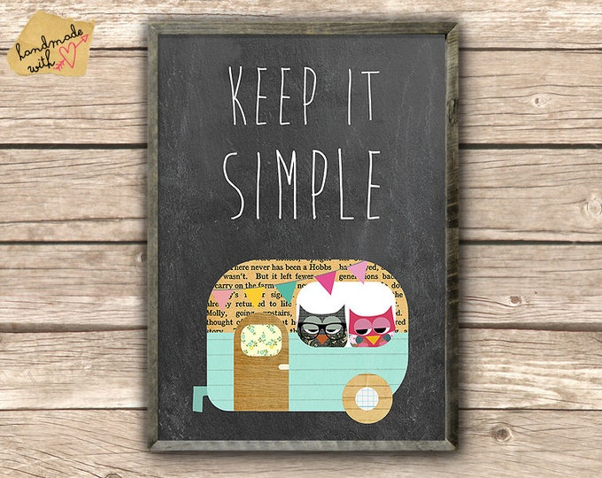Keep it simple-camper/bus poster typo Print