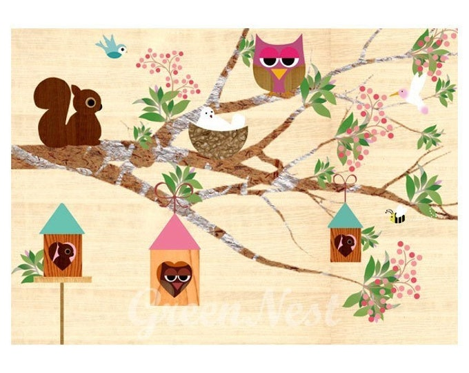Spring with forest animals posters