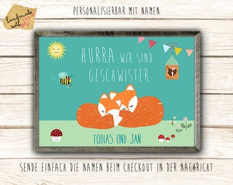 Hurrah We are siblings posters