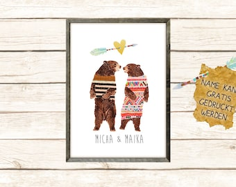 Dancing bears in love with names