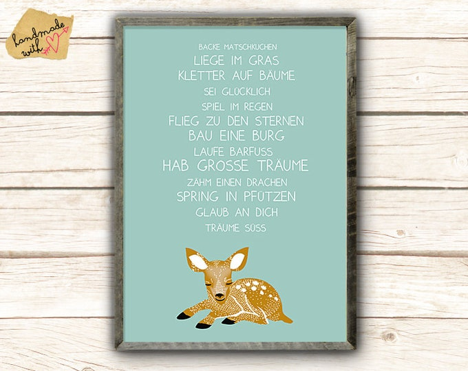A3 poster-have big dreams with fawn