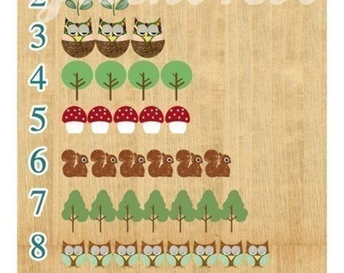 Learning numbers with sweet forest animals
