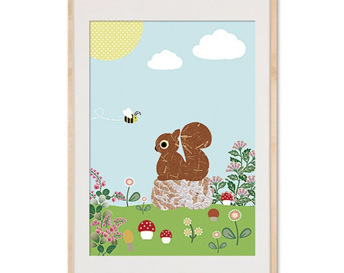 Spring with squirrel Posters
