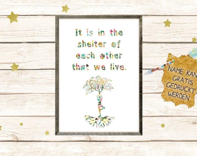 Yoga Baum Poster