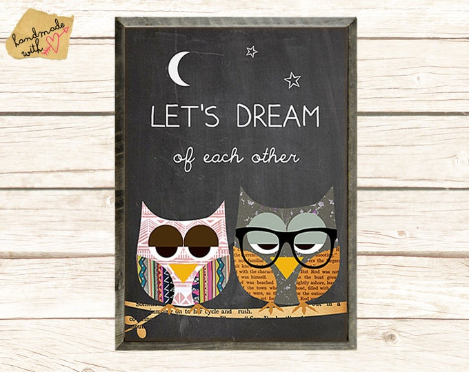 "Let's dream of each other"" - Eulen bei Nacht"