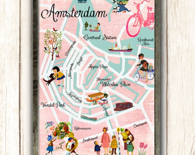 Pink Amsterdam Poster