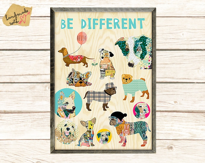 Be different-nerd dog posters