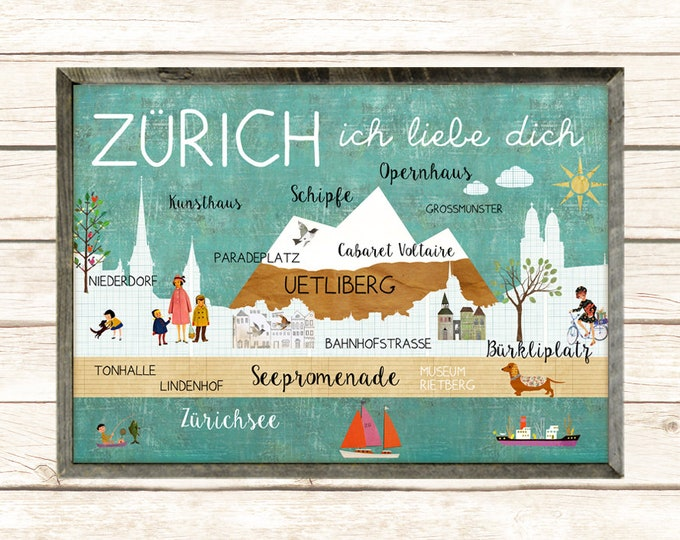 ZURICH I love you poster