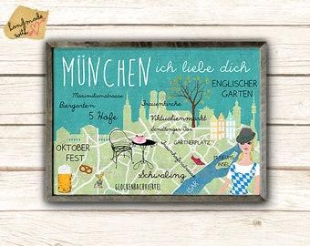 Munich I Love you poster