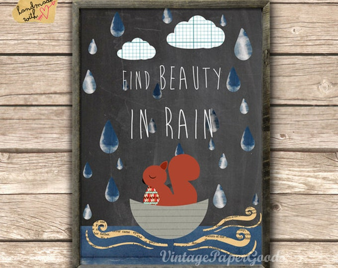 Find beauty in rain Poster