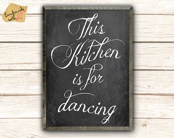 A3 This kitchen is for dancing poster