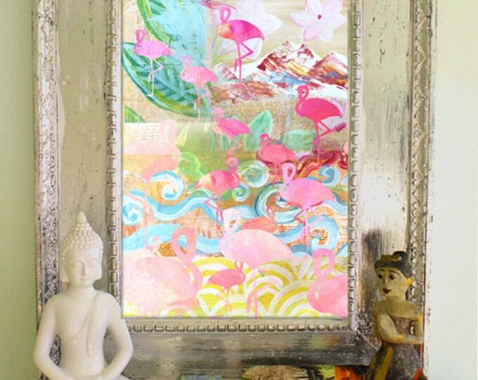 Flamingo Collage Poster