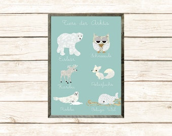 New A3-Arctic animals in children's room