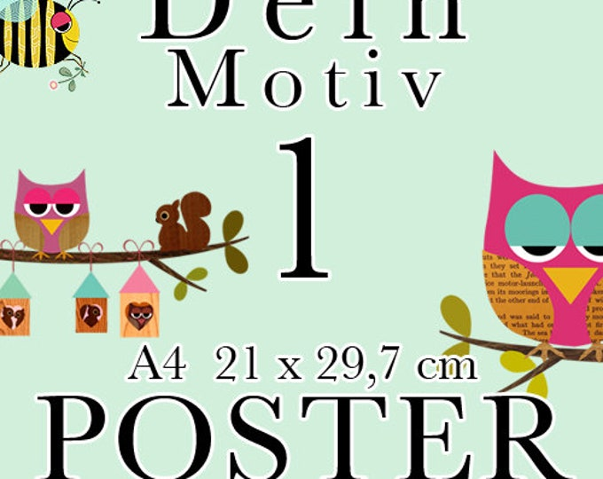 A4 Posters-Choose your favourite motif