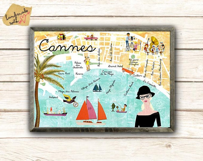 New A3 Retro Cannes collage poster
