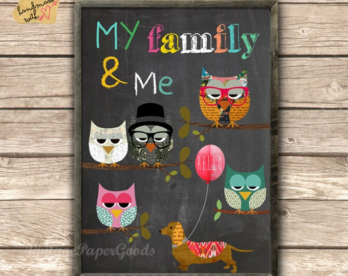 My Family & Me-owl Posters