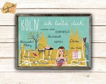Retro Kühlschrank Köln : I love köln etsy
