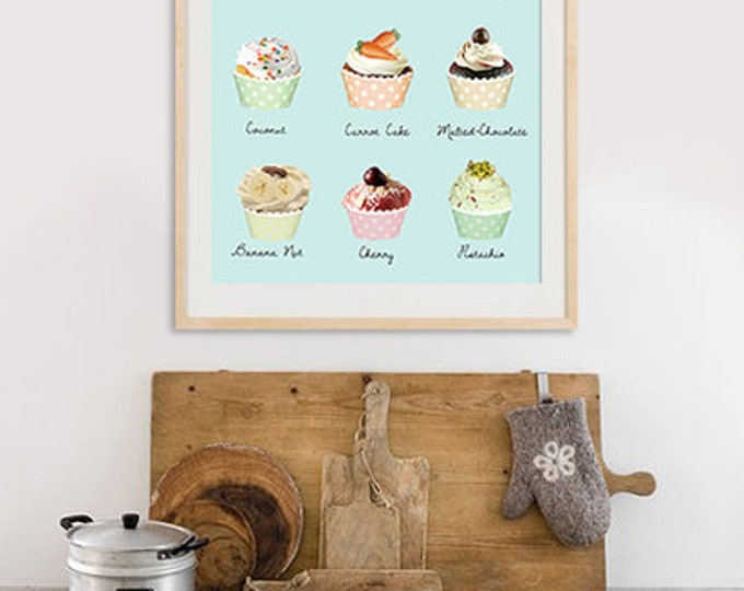 New A3 cupcake poster for the kitchen