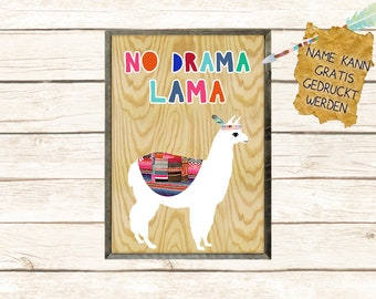 No drama Lama Collage