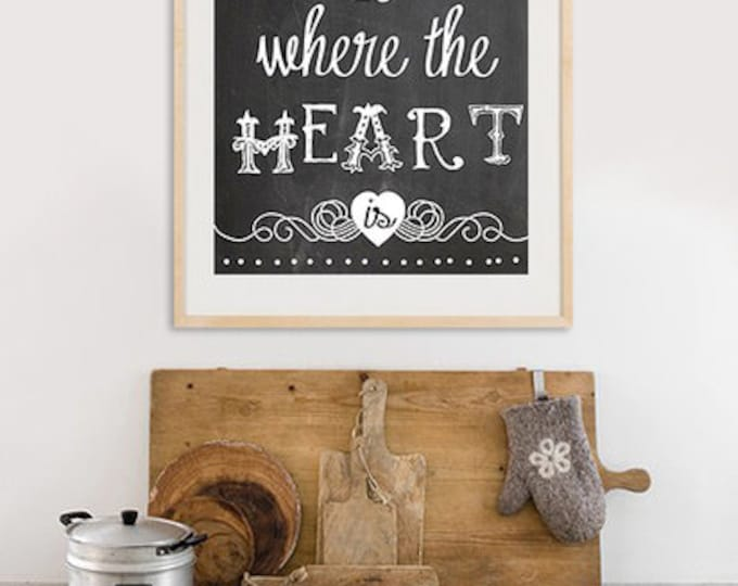 A3 Format - Home is where the Heart is