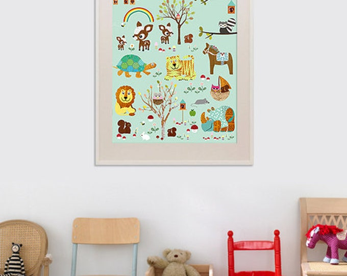 New A3 format-children's room poster visit at the zoo