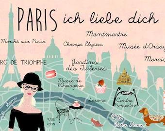 Paris I Love you poster