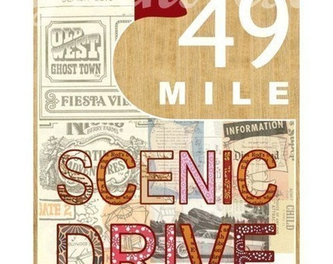 San Francisco 49 mile scenic drive poster-Wood