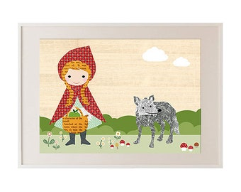 New A3-Little Red Riding Hood Child Room poster