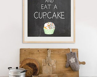 New A3 Keep calm and have a cupcake on board