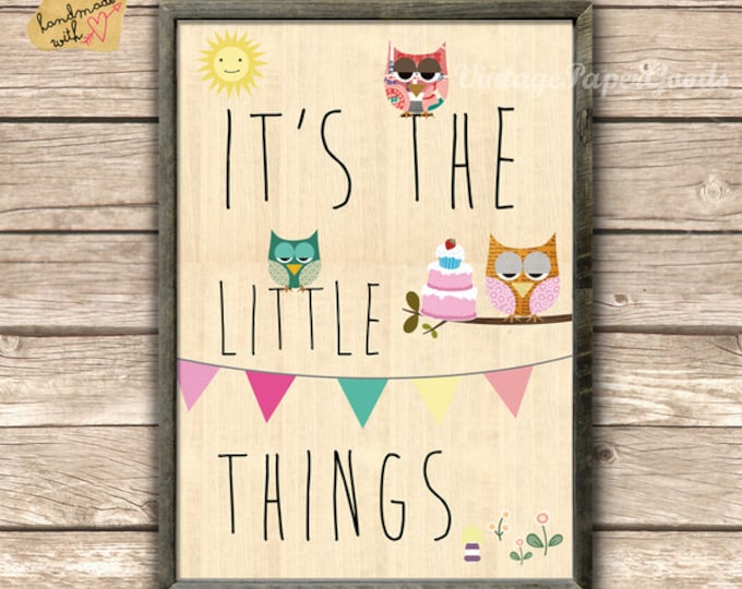 It's the little things... Owl Posters