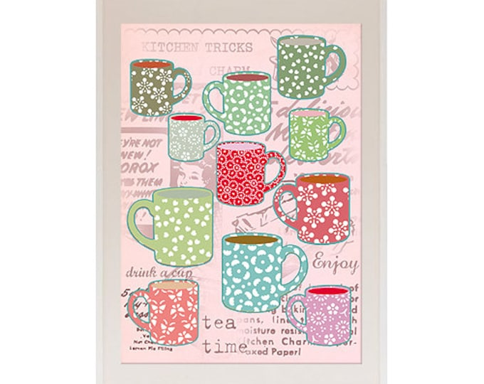 A4 Tea cups nostalgia posters for the kitchen