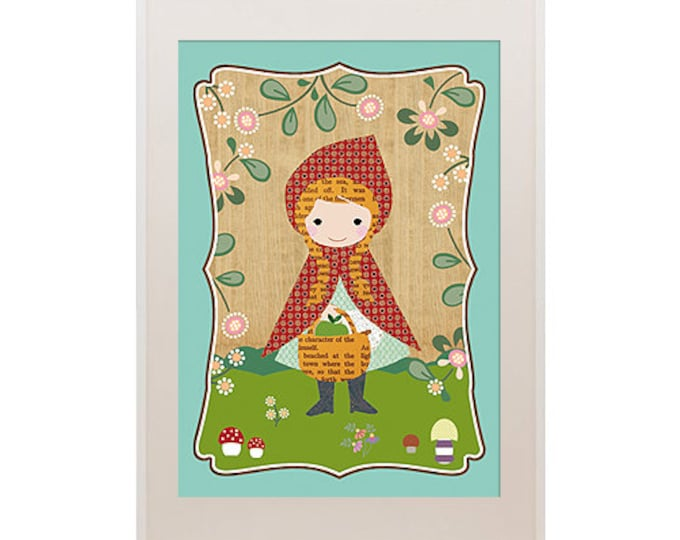 Cute Little Red Riding Hood Kids Poster Collage