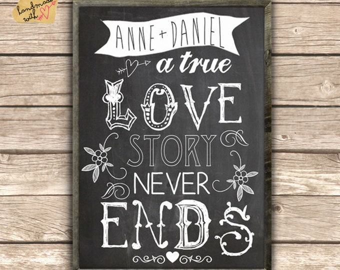 A true love story never ends-typo print