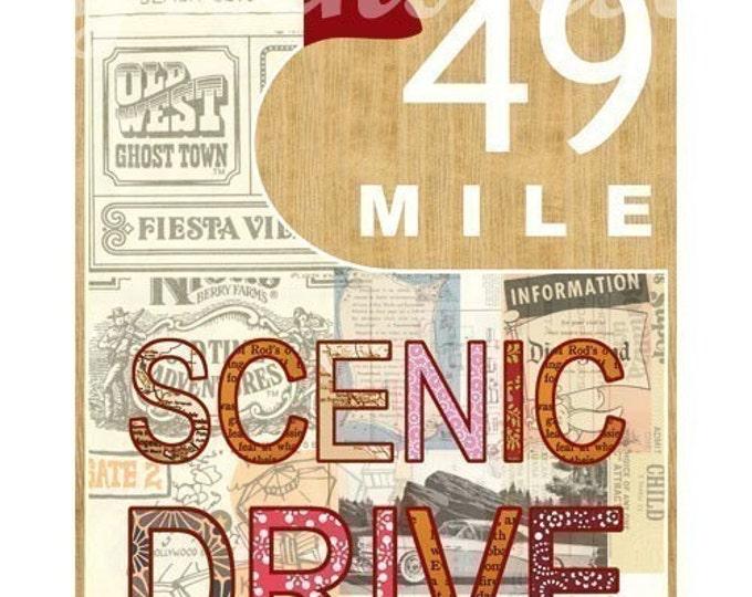 San Francisco 49 Mile Scenic Drive Collage Poster Print