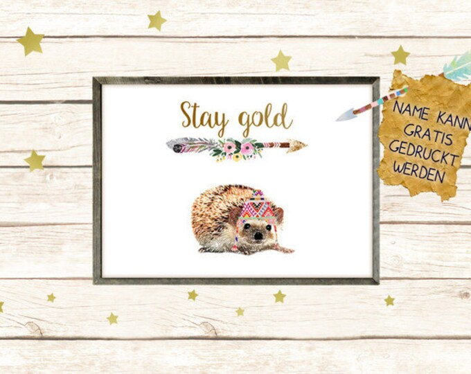 Stay gold - hedgehog