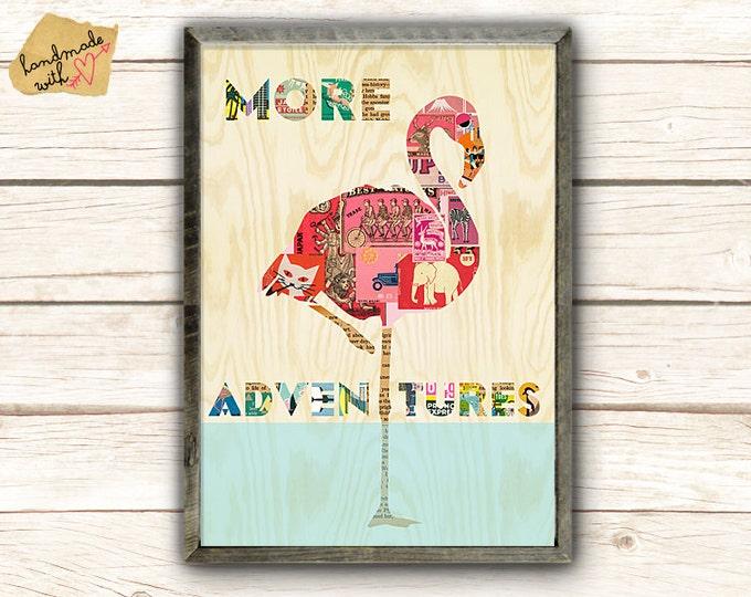 Flamingo Collage - More Adventures