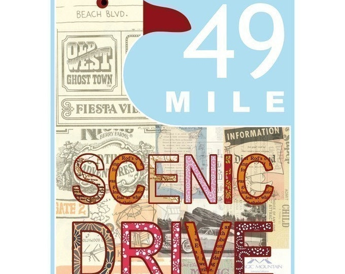 San Francisco 49 Mile Scenic Drive Collage Poster Print