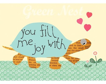 you fill me with joy - valentine print