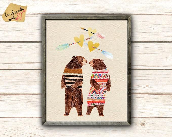 Dancing Bear Couple in love