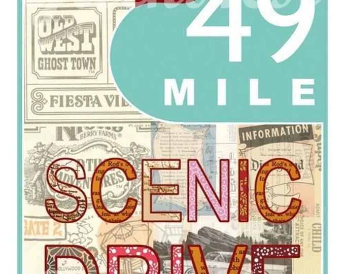 NEW A3 Size: Aqua San Francisco 49 Mile Scenic Drive Collage Poster Print