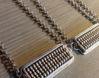 Recycled Vintage Zipper Necklace