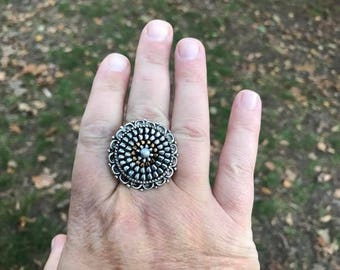 Recycled vintage zipper ring