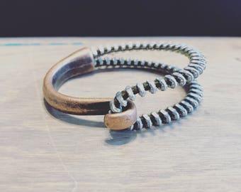 Recycled Vintage Zipper Cuff Bracelet