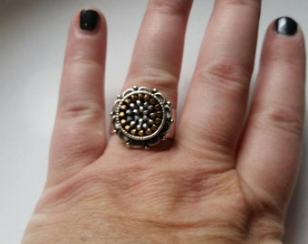 Small Recycled Zipper Ring