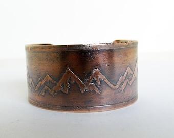 Copper Mountain Range Cuff Bracelet
