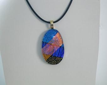 Lovely Dichroic Glass Pendant